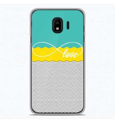 Coque en silicone Samsung Galaxy J2 Pro 2018 - Love Turquoise