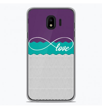 Coque en silicone Samsung Galaxy J2 Pro 2018 - Love Violet