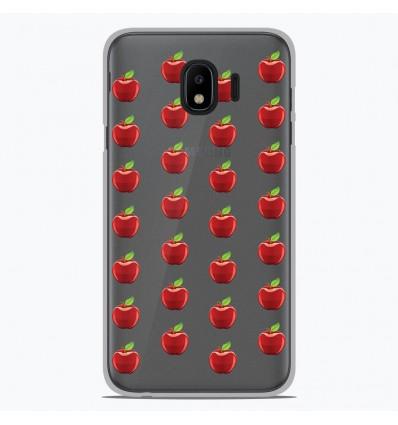 Coque en silicone Samsung Galaxy J2 Pro 2018 - Pommes Gris