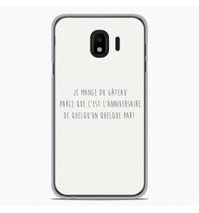 Coque en silicone Samsung Galaxy J2 Pro 2018 - Citation 12