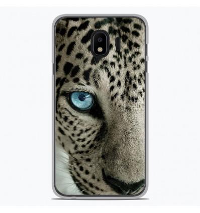Coque en silicone Samsung Galaxy J2 Pro 2018 - Oeil de léopard