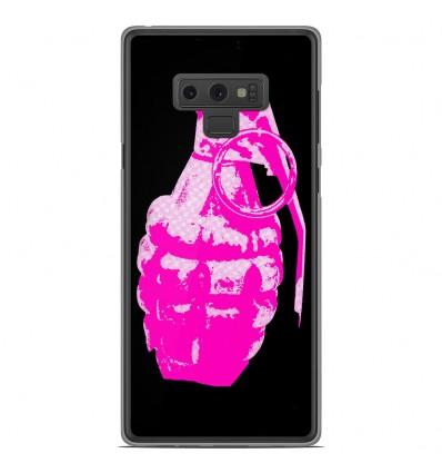 Coque en silicone Samsung Galaxy Note 9 - Grenade rose