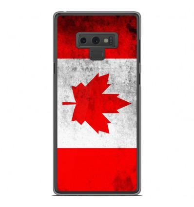 Coque en silicone Samsung Galaxy Note 9 - Drapeau Canada