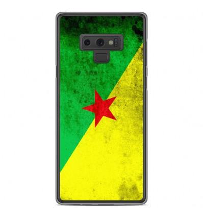 Coque en silicone Samsung Galaxy Note 9 - Drapeau Guyane