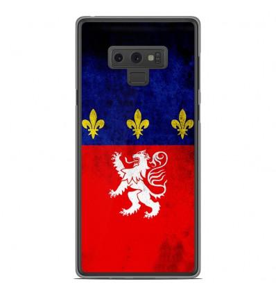 Coque en silicone Samsung Galaxy Note 9 - Drapeau Lyon