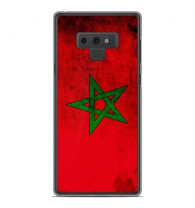 Coque en silicone Samsung Galaxy Note 9 - Drapeau Maroc