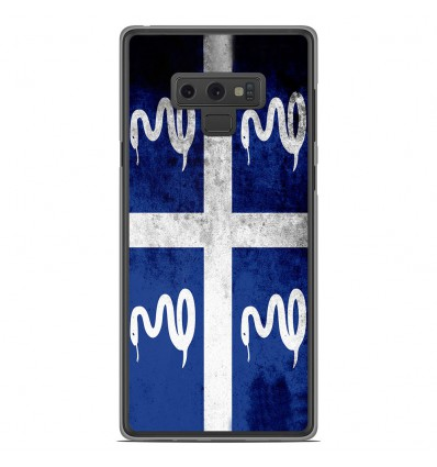 Coque en silicone Samsung Galaxy Note 9 - Drapeau Martinique