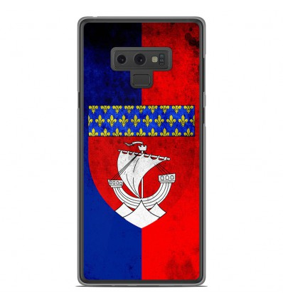 Coque en silicone Samsung Galaxy Note 9 - Drapeau Paris