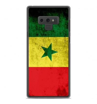 Coque en silicone Samsung Galaxy Note 9 - Drapeau Sénégal