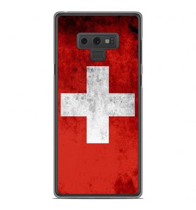 Coque en silicone Samsung Galaxy Note 9 - Drapeau Suisse