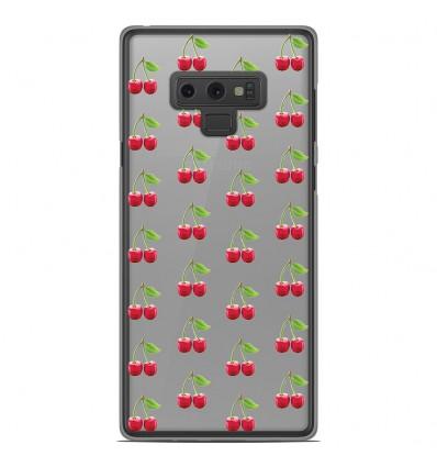 Coque en silicone Samsung Galaxy Note 9 - Cerises Gris