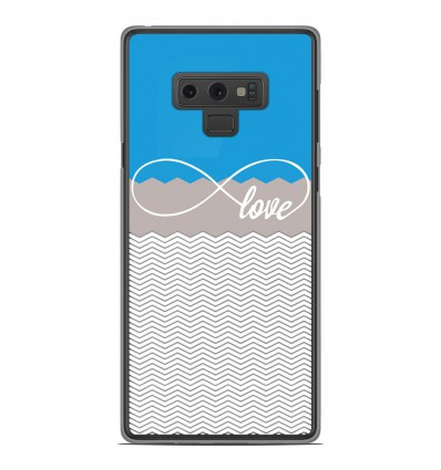 Coque en silicone Samsung Galaxy Note 9 - Love Bleu
