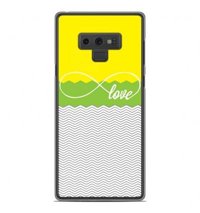 Coque en silicone Samsung Galaxy Note 9 - Love Jaune