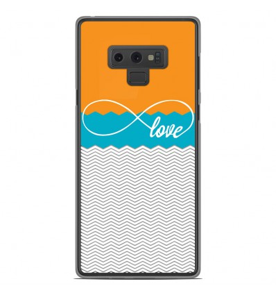 Coque en silicone Samsung Galaxy Note 9 - Love Orange