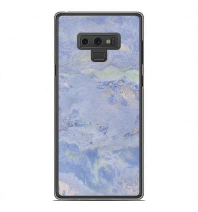 Coque en silicone Samsung Galaxy Note 9 - Marbre Bleu