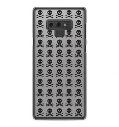 Coque en silicone Samsung Galaxy Note 9 - Skull Noir