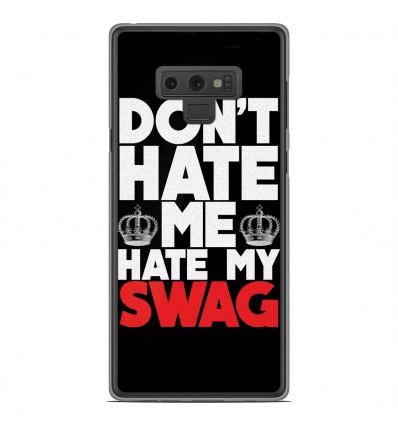 Coque en silicone Samsung Galaxy Note 9 - Swag Hate