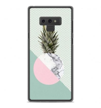 Coque en silicone Samsung Galaxy Note 9 - Ananas marbre