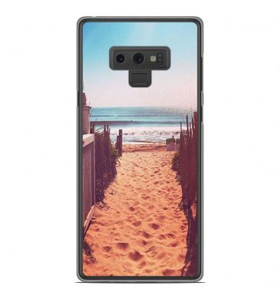Coque en silicone Samsung Galaxy Note 9 - Chemin de plage