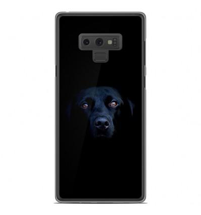Coque en silicone Samsung Galaxy Note 9 - Chien noir