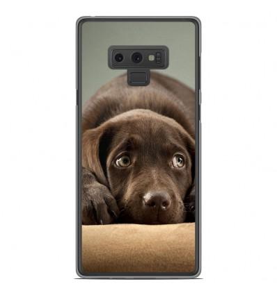 Coque en silicone Samsung Galaxy Note 9 - Chiot marron
