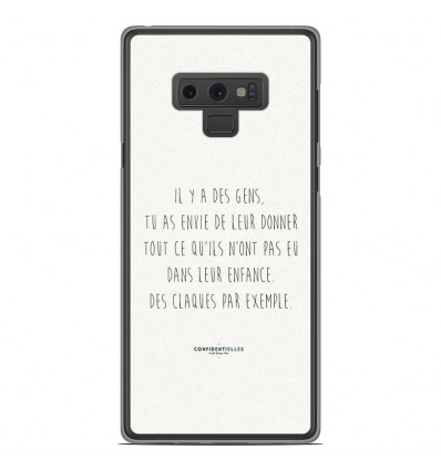 Coque en silicone Samsung Galaxy Note 9 - Citation 01