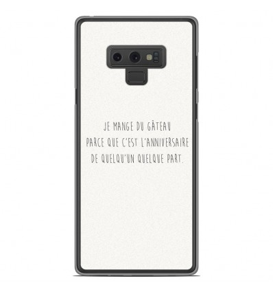 Coque en silicone Samsung Galaxy Note 9 - Citation 12