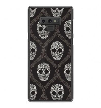 Coque en silicone Samsung Galaxy Note 9 - Floral skull