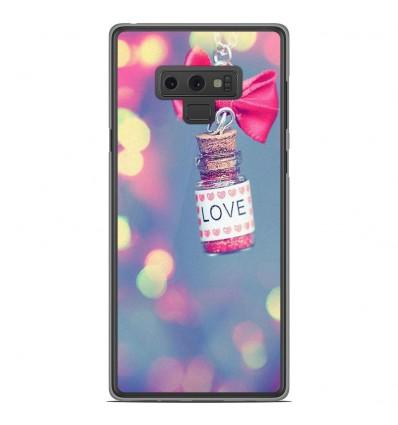 Coque en silicone Samsung Galaxy Note 9 - Love noeud rose