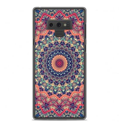 Coque en silicone Samsung Galaxy Note 9 - Mandalla rose
