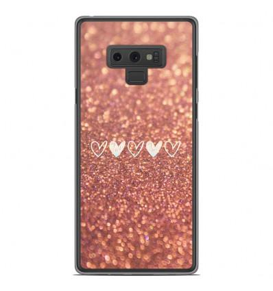 Coque en silicone Samsung Galaxy Note 9 - Paillettes coeur
