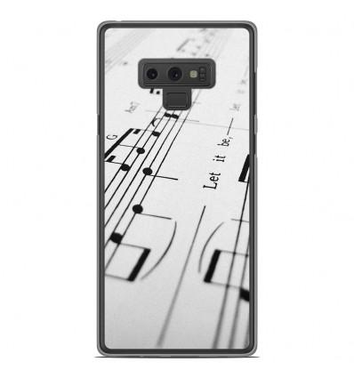 Coque en silicone Samsung Galaxy Note 9 - Partition de musique