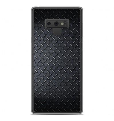 Coque en silicone Samsung Galaxy Note 9 - Texture metal