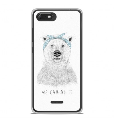 Coque en silicone Wiko Tommy 3 - BS We can do it