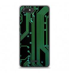 Coque en silicone Wiko Tommy 3 - Texture circuit geek