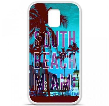 Coque en silicone pour Samsung Galaxy S5 - South beach miami