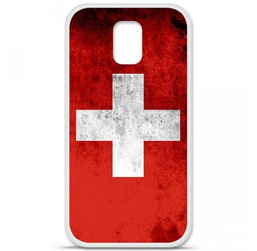 Coque en silicone pour Samsung Galaxy S5 - Drapeau Suisse