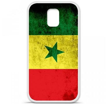 Coque en silicone pour Samsung Galaxy S5 - Drapeau Sénégal
