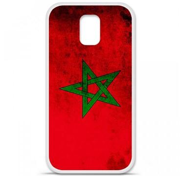 Coque en silicone pour Samsung Galaxy S5 - Drapeau Maroc