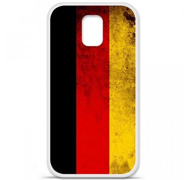 Coque en silicone Samsung Galaxy S5 - Drapeau Allemagne