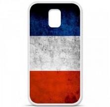 Coque en silicone Samsung Galaxy S5 - Drapeau France
