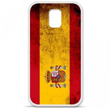 Coque en silicone pour Samsung Galaxy S5 - Drapeau Espagne