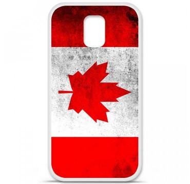 Coque en silicone pour Samsung Galaxy S5 - Drapeau Canada