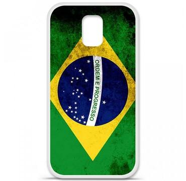 Coque en silicone Samsung Galaxy S5 - Drapeau Brésil
