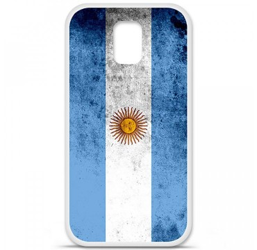 Coque en silicone Samsung Galaxy S5 - Drapeau Argentine