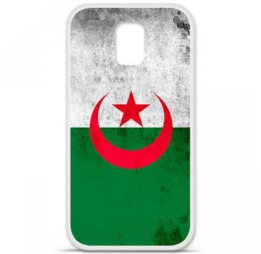 Coque en silicone Samsung Galaxy S5 - Drapeau Algérie
