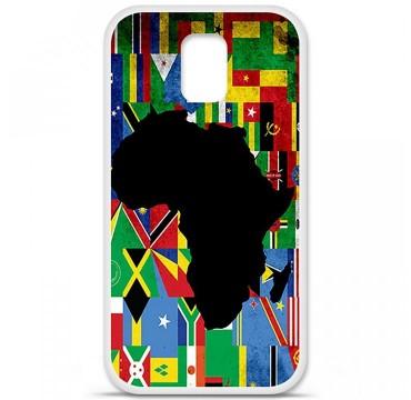 Coque en silicone pour Samsung Galaxy S5 - Drapeau Afrique