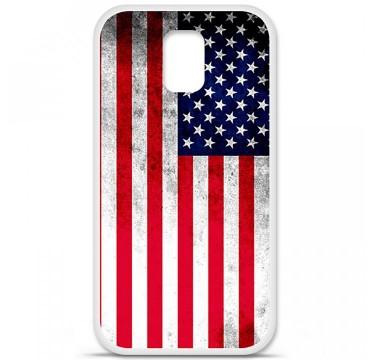 Coque en silicone pour Samsung Galaxy S5 - Drapeau USA