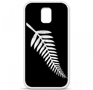 Coque en silicone pour Samsung Galaxy S5 - Drapeau All-black