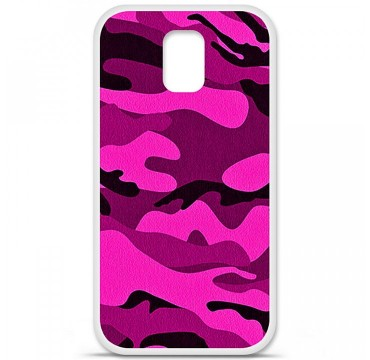 Coque en silicone pour Samsung Galaxy S5 - Camouflage rose